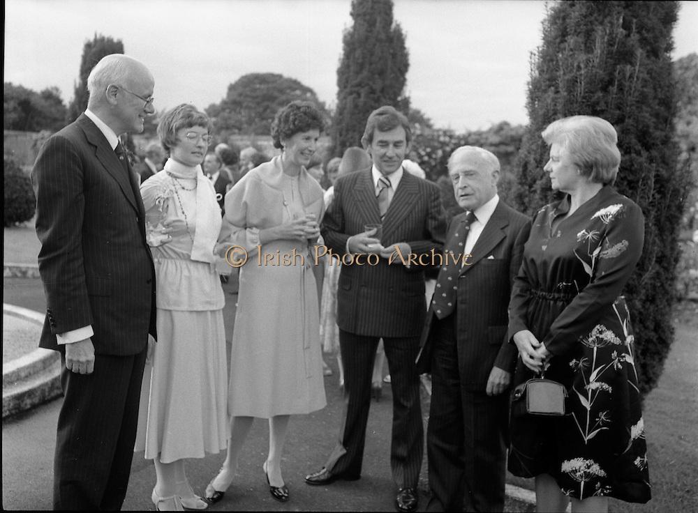 06/09/1978<br /> 09/06/1978<br /> 06 September 1978<br /> Reception for Mr. Sean Donlon, New Irish Ambassador to the United States, at the U.S. Embassy Residence, Phoenix Park, Dublin.