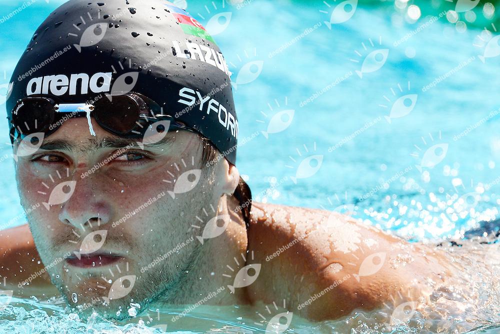 Evgeniy Lazuka Azerbaigian 50m Butterfly Men <br /> Roma 15/6/2013 Piscina del Foro Italico <br /> Nuoto 50mo trofeo Settecolli<br /> Settecolli 50th International swimming trophy <br /> Foto Andrea Staccioli Insidefoto