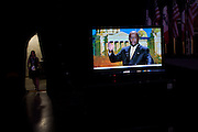 Republican presidential candidate Herman Cain addresses the Straw Poll in Ames, Iowa, August 13, 2011.