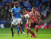 Football - 2019 EFL Checkatrade Trophy Final - Sunderland vs. Portsmouth<br /> <br /> Jamal Lowe of Portsmouth and George Honeyman of Sunderland, at Wembley.<br /> <br /> COLORSPORT/ANDREW COWIE