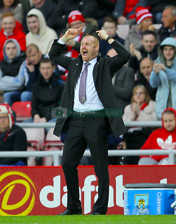 Burnley manager Sean Dyche gestures on the touchline