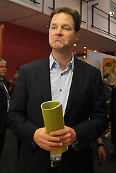 FILE PICTURE  © under license to London News Pictures. Nick Clegg photographed at the Liberal Democrat Conference in Liverpool 2010. Pressure mounts on Nick Clegg over tuition fees amid signs of splits among his MP's . Picture credit should read Stephen Simpson/London News Pictures