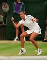 Tennis - 1998 Wimbledon Championships - Ladies  Singles - Natasha Zvereva v Steffi Graf - Third round<br /> <br /> 26/06/1998<br /> <br /> Natasha Zvereva on Centre court<br /> <br /> Steffi Graf (lost to Natasha Zvereva)