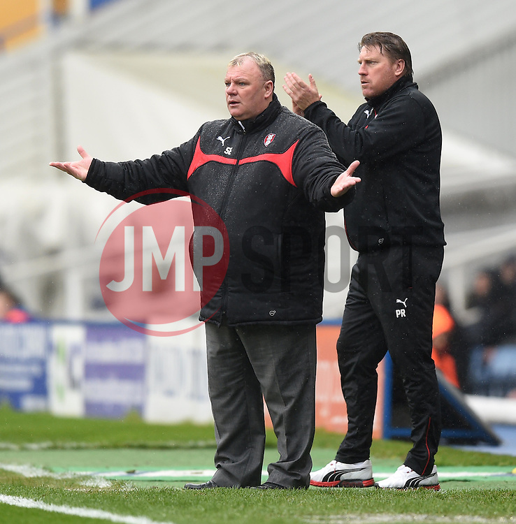 Rotherham United manager, Steve Evans at St Andrew's Stadium - Photo mandatory by-line: Paul Knight/JMP - Mobile: 07966 386802 - 03/04/2015 - SPORT - Football - Birmingham - St Andrew's Stadium - Birmingham City v Rotherham United - Sky Bet Championship