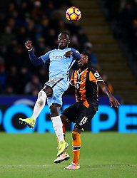 Bacary Sagna of Manchester City and Dieumerci Mbokani of Hull City - Mandatory by-line: Matt McNulty/JMP - 26/12/2016 - FOOTBALL - KC Stadium - Hull, England - Hull City v Manchester City - Premier League