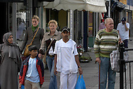Asians shopping on Bethnal Green Road,  London..Photo@Steve Forrest/Workers' Photos