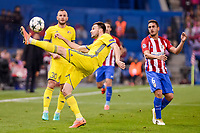 Atletico de Madrid's player Koke Resurrección and CF Rostov's player Vladimir Granat during a match of UEFA Champions League at Vicente Calderon Stadium in Madrid. November 01, Spain. 2016. (ALTERPHOTOS/BorjaB.Hojas)