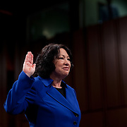 Sonia Sotomayor, Pres. Obama's nominee to the US Supreme Court, attends the first day of her confirmation hearing Monday, July 13, 2009...Photo by Khue Bui