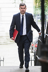 Downing Street, London, October 25th 2016. Chief Secretary to the Treasury David Gauke arrives at 10 Downing Street for the weekly cabinet following a Heathrow Third Runway Sub-Committee meeting at the same venue.