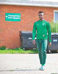 14.05.2013, Weserstadion, Bremen, GER, 1.FBL, Training SV Werder Bremen, im Bild Marko Arnautovic (SV Werder Bremen #7) auf dem Weg zum Training mit der U23 // during the training session of the German Bundesliga Club SV Werder Bremen at the Weserstadion, Bremen, Germany on 2013/05/14. EXPA Pictures © 2013, PhotoCredit: EXPA/ Andreas Gumz ***** ATTENTION - OUT OF GER *****