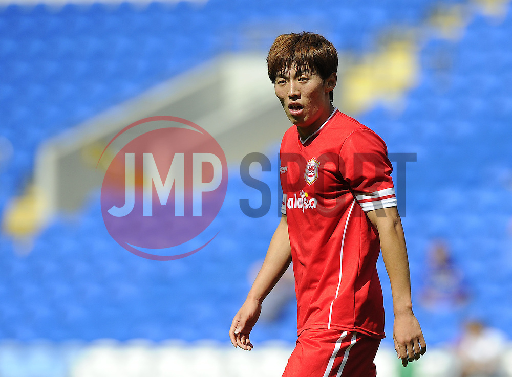Cardiff City's Kim Bo Kyung - Photo mandatory by-line: Joe Meredith/JMP - Mobile: 07966 386802 02/08/2014 - SPORT - FOOTBALL - Cardiff - Cardiff City Stadium - Cardiff City v VfL Wolfsburg - Pre-Season Friendly
