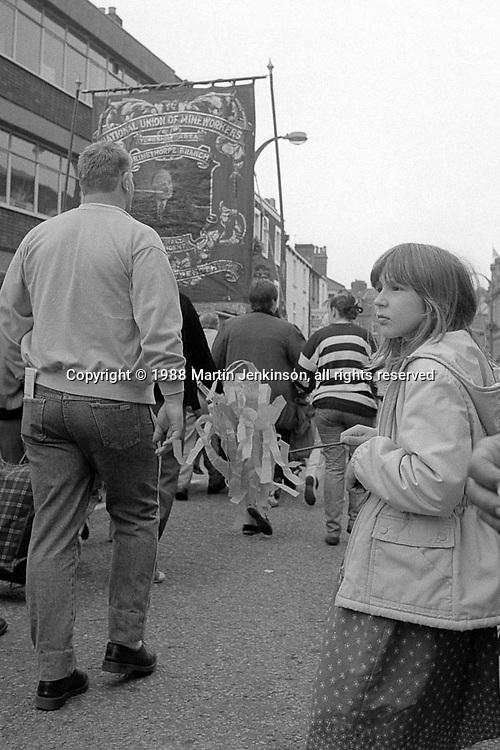 1988 Yorkshire Miner's Gala. Wakefield.