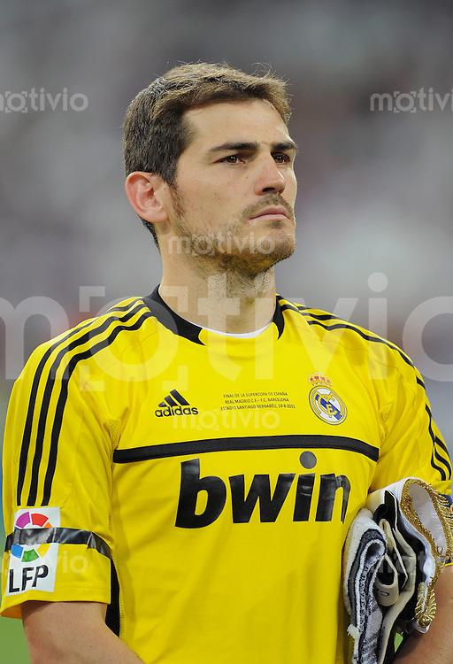 FUSSBALL  INTERNATIONAL  PRIMERA DIVISION  SAISON 2011/2012   14.08.2011 El Clasico  Super Cup 2011 Real Madrid - FC Barcelona Iker Casillas (Real Madrid)