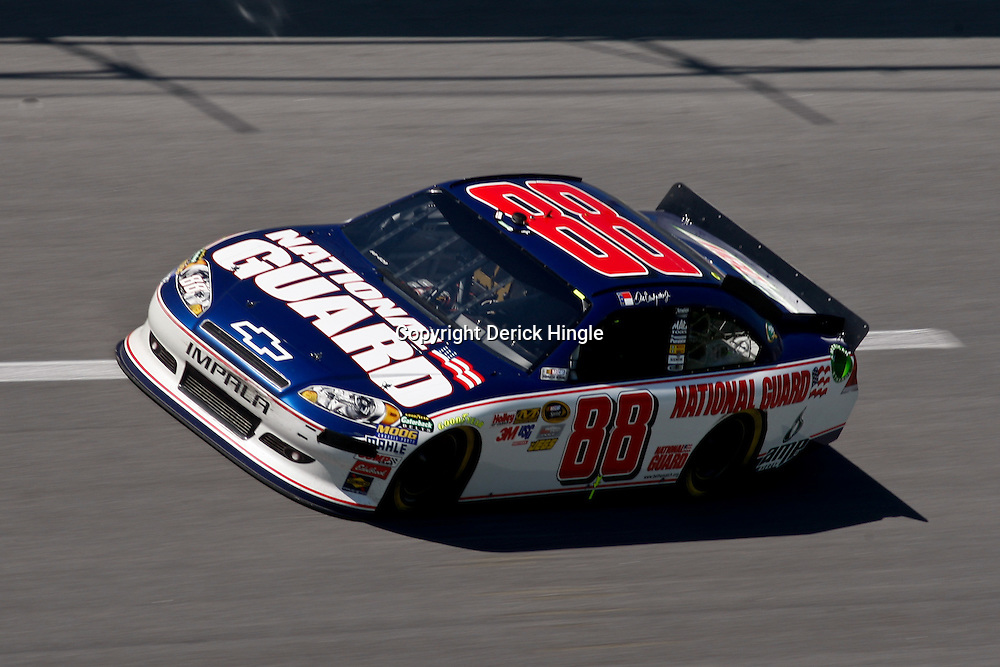 April 17, 2011; Talladega, AL, USA; NASCAR Sprint Cup Series driver Dale Earnhardt Jr. (88) during the Aarons 499 at Talladega Superspeedway.   Mandatory Credit: Derick E. Hingle