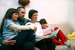 Family reading. (Photo by Vid Ponikvar / Sportal Images)