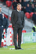 Doncaster Rovers Manager Darren Ferguson during the The FA Cup match between Doncaster Rovers and Scunthorpe United at the Keepmoat Stadium, Doncaster, England on 3 December 2017. Photo by Craig Zadoroznyj.