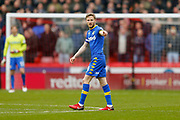 Leeds United midfielder Eunan O'Kane (14) points the way during the EFL Sky Bet Championship match between Sheffield Utd and Leeds United at Bramall Lane, Sheffield, England on 10 February 2018. Picture by Simon Davies.