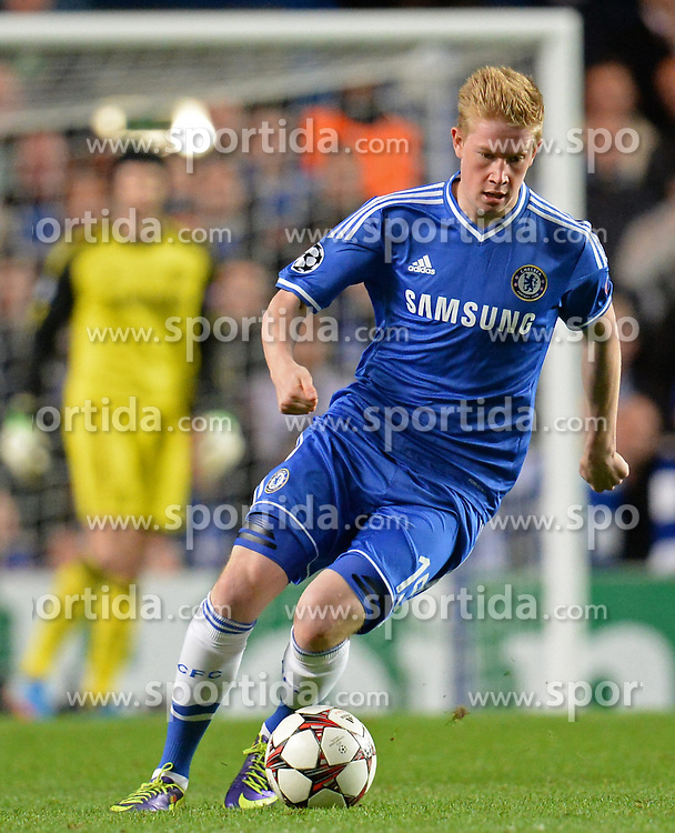 06.11.2013, Stamford Bridge, London, ENG, UEFA CL, FC Chelsea vs FC Schalke 04, Gruppe E, im Bild Chelsea's Kevin De Bruyne // Chelsea's Kevin De Bruyne during UEFA Champions League group E match between FC Chelsea and FC Schalke 04 at the Stamford Bridge in London, Great Britain on 2013/11/06. EXPA Pictures &copy; 2013, PhotoCredit: EXPA/ Mitchell Gunn<br /> <br /> *****ATTENTION - OUT of GBR*****