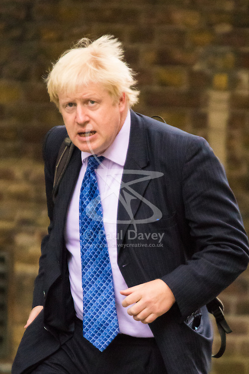 Downing Sreet, London, July14th 2015. Mayor of London and Cabinet member Boris Johnson arrives at 10 Downing street for the government's weekly cabinet meeting.
