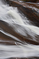 Diagonal patterns formed by flowing water at High Falls Waterfall East Side Algonquin Provincial Park Ontario Canada