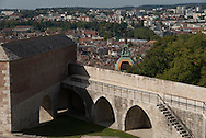 Besançon elevated view , Doubs department france