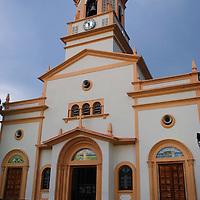Vista externa de la Catedral Maria Auxiliadora (Don Bosco) en Puerto Ayacucho, estado Amazonas, Venezuela. Externall view of the Catedral Maria Auxiliadora (Don Bosco) in Puerto Ayacucho, estado Amazonas, Venezuela. ©Jimmy Villalta