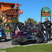 Harley Davidson Riders In Mackinac City