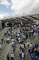 Photo: Lee Earle.<br /> Chelsea v Manchester United. The FA Cup Final. 19/05/2007.Fans leaving The Wembley Park Station.