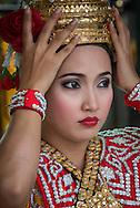 Classical Thai dancer at the Erawan Shrine, Bangkok.