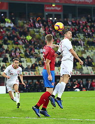 November 15, 2018 - Gdansk, Pomorze, Poland - Jakub Brabec (5) and Robert Lewandowski (9) during the international friendly soccer match between Poland and Czech Republic at Energa Stadium in Gdansk, Poland on 15 November 2018  (Credit Image: © Mateusz Wlodarczyk/NurPhoto via ZUMA Press)
