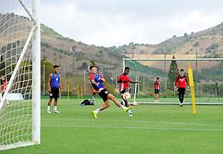 Kieran Agard of Bristol City shoots  - Mandatory by-line: Joe Meredith/JMP - 19/07/2016 - FOOTBALL - Bristol City pre-season training camp, La Manga, Murcia, Spain