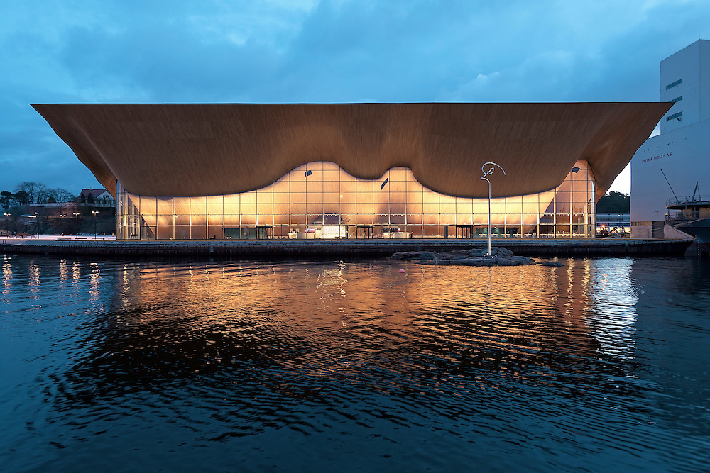 Kilden Performing Arts Centre in Kristiansand, Norway designed by ALA architects.