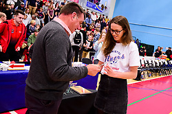 Bristol Flyers Women receives their league winners trophies at half time - Photo mandatory by-line: Ryan Hiscott/JMP - 13/04/2019 - BASKETBALL - SGS Wise Arena - Bristol, England - Bristol Flyers v Manchester Giants - British Basketball League Championship