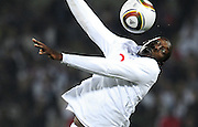 Emile Heskey (England) in action during the 2010 FIFA World Cup South Africa Group C match between England and USA at the Royal Bafokeng Stadium on June 12, 2010 in Rustenburg, South Africa.