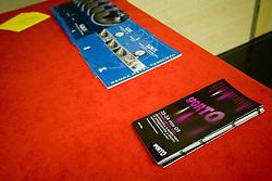 """Pokrovitelji na okrogli mizi na temo """"Slovenska kosarka - le kos do svetovnega vrha?"""" v organizaciji SportForum Slovenija, 19. oktober 2009, Austria Trend Hotel, Ljubljana, Slovenija. (Photo by Vid Ponikvar / Sportida)"""