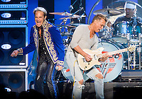 David Lee Roth and Eddie Van Halen perform at Madison Square Garden.