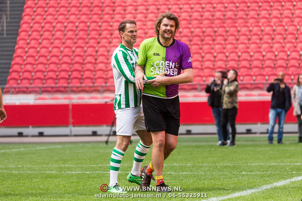 NLD/Amsterdam/20180503- Coen en Sander Live vanuit Johan Cruijff Arena, Frank de Boer en Sander lantinga
