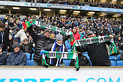 Timbers fans from American watching Brighton defender Liam Ridgewell (33) during the Sky Bet Championship match between Brighton and Hove Albion and Bolton Wanderers at the American Express Community Stadium, Brighton and Hove, England on 13 February 2016.