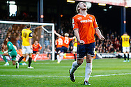 Scott Griffiths of Luton Town celebrates the winning goal during the Sky Bet League 2 match at Kenilworth Road, Luton<br /> Picture by David Horn/Focus Images Ltd +44 7545 970036<br /> 25/10/2014
