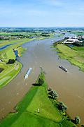 Nederland, Gelderland, Gemeente Arnhem, 09-06-2016; IJsselkop, splitsing van het Pannerdensch Kanaal (uitloper van de Rijn) in Neder-Rijn en IJssel. <br /> Division of river Rhine in Lower Rhine and IJssel. <br /> <br /> luchtfoto (toeslag op standard tarieven);<br /> aerial photo (additional fee required);<br /> copyright foto/photo Siebe Swart