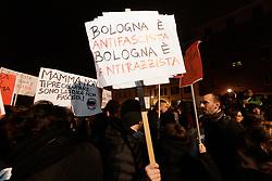 Foto Filippo Rubin<br /> 14/11/2019 Bologna (Italia)<br /> Cronaca Politica<br /> Manifestszione contro Matteo Salvini - Bologna<br /> Nella foto: i manifestanti in piazza San Francesco<br /> <br /> Photo by Filippo Rubin<br /> November 14th, 2019 Bologna (Italy) News Demonstration against Matteo Salvini <br /> In the pic: people in San Francesco square