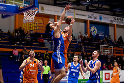 Mitja Nikolic of KK Helios Suns during basketball match between KK Helios Suns and KK Rogaska in ABA League Second division, on October 31, 2018 in Sports hall Domzale, Domzale, Slovenia. Photo by Urban Urbanc / Sportida