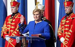 15.02.2015, Zagreb, CRO, Kolinda Gabar, Einweihungsfeier der neuen kroatischen Präsidentin Kolinda Grabar, im Bild Kolinda Grabar // during inauguration ceremony of new Croatian President Kolinda Grabar in Zagreb, Croatia on 2015/02/15. EXPA Pictures © 2015, PhotoCredit: EXPA/ Pixsell/ Igor Kralj<br /> <br /> *****ATTENTION - for AUT, SLO, SUI, SWE, ITA, FRA only*****
