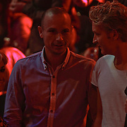 NLD/Hilversum/20120120 - Finale the Voice of Holland 2012, Wendy van Dijk, broer Chris van Dijk en partner Erland Galjaard