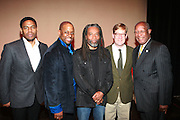 l to r: Terrence Mcknight, Stephen Salters, Bobby McFerrin, Geroge Steel and Howard Dodson at Tribute to Robert McFerrin presented by The New York City Opera and The Schomburg Center for Research in Black Culture on March 6, 2010 in Harlem, New York City. Terrence Jennings/Retna, Ltd