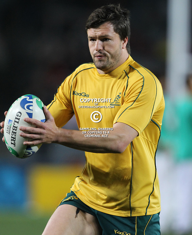 AUCKLAND, NEW ZEALAND - OCTOBER 21, Adam Ashley-Cooper during the 2011 IRB Rugby World Cup 3rd &amp; 4th playoff match between Australia and Wales at Eden Park on October 21, 2011 in Auckland, New Zealand<br /> Photo by Steve Haag / Gallo Images