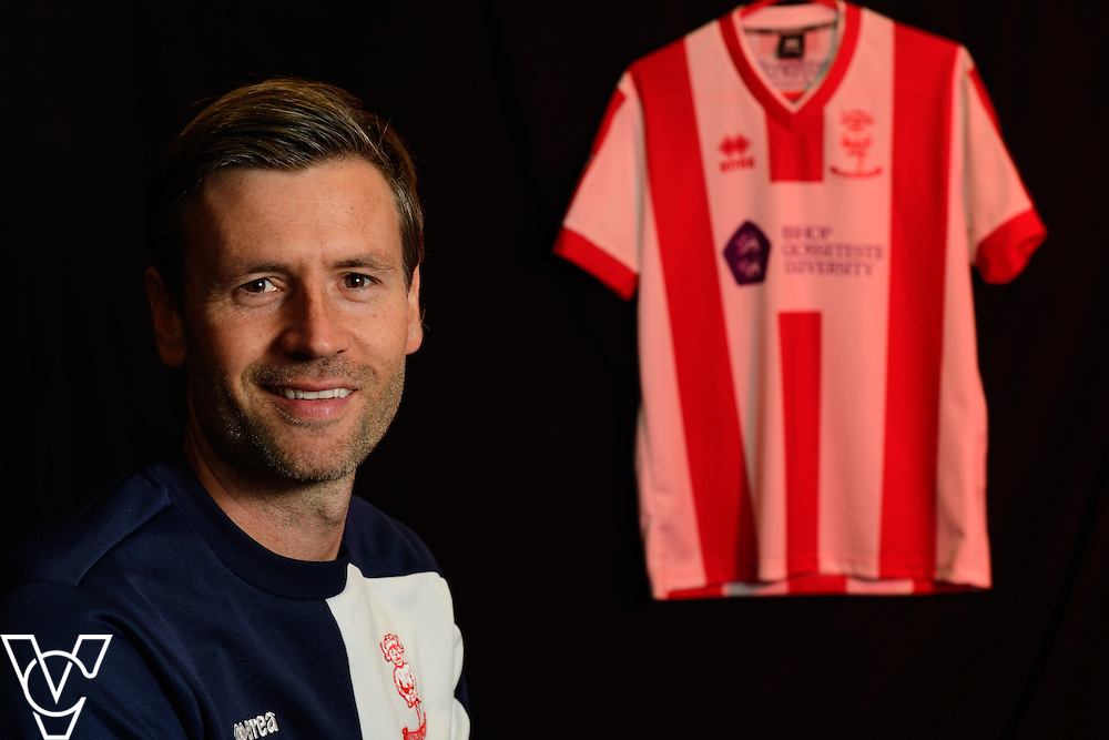Lincoln City team photograph 2016/17 season.<br /> <br /> Pictured is Nicky Cowley<br /> <br /> Picture: Chris Vaughan/Chris Vaughan Photography for Lincoln City Football Club<br /> Date: August 1, 2016