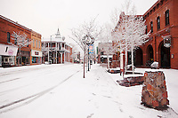 Downtown Flagstaff in Winter, Arizona