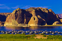 Wahweap Marina, Wahweap Bay, Lake Powell, Glen Canyon National Recreation Area, near Page, Arizona USA