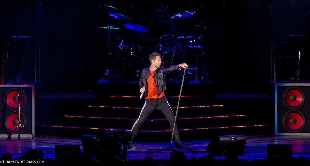 """Adam Levine of Maroon 5 performs at the Hollywood Bowl in support of """"Hands All Over"""" on July 25, 2011 in Los Angeles, California."""